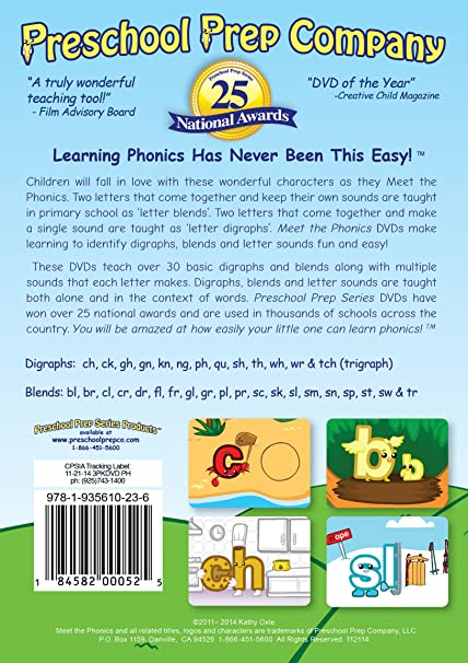 Amazon.com: Meet the Phonics - 3 DVD Boxed Set (Meet the Letter ...