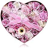 フラワーソープ 石鹸の花 ソープフラワー 枯れないお花 母の日 バレンタインデー 誕生日 お祝いや休日の贈り物に最適です 29.2*26*13.2CM