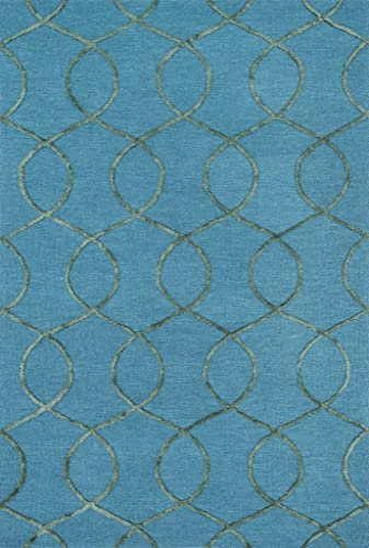 Superior s Emily Collection Area Rug, 10mm Pile Height with Jute Backing, Durable, Fashionable and Easy Maintenance, 8 x 10 – Blue