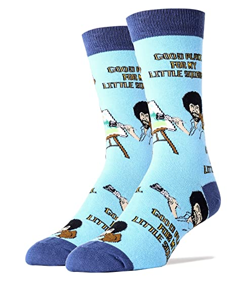 to buy shoes for cheap hot-selling clearance Oooh Yeah Socks Mens Crew Bob Ross Little Squirrel Large