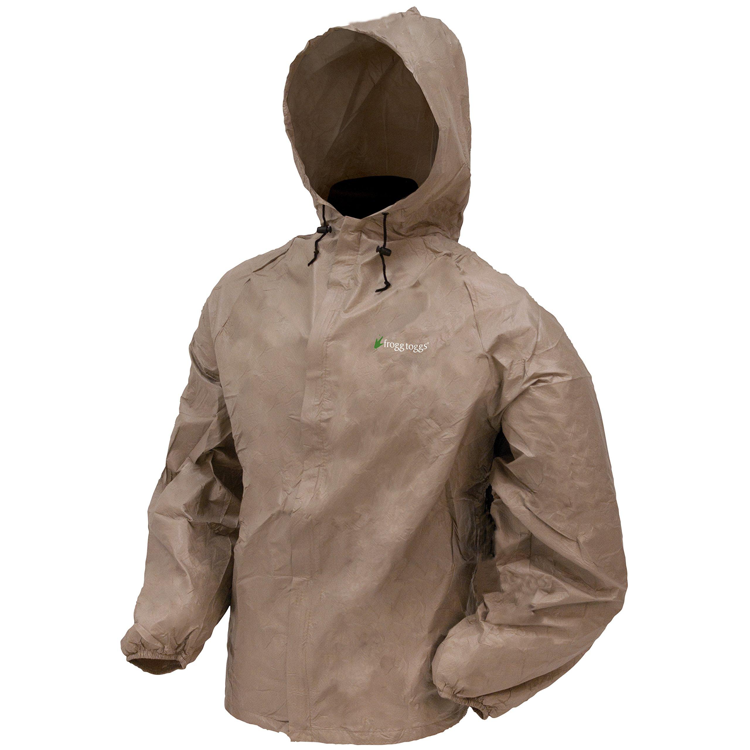 Frogg Toggs Men's Ultra Lite Rain Jacket, Khaki, X-Large
