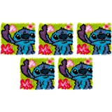 Dimensions Arts and Crafts Lilo and Stitch Latch Hook Kit Finished size 12 x 12