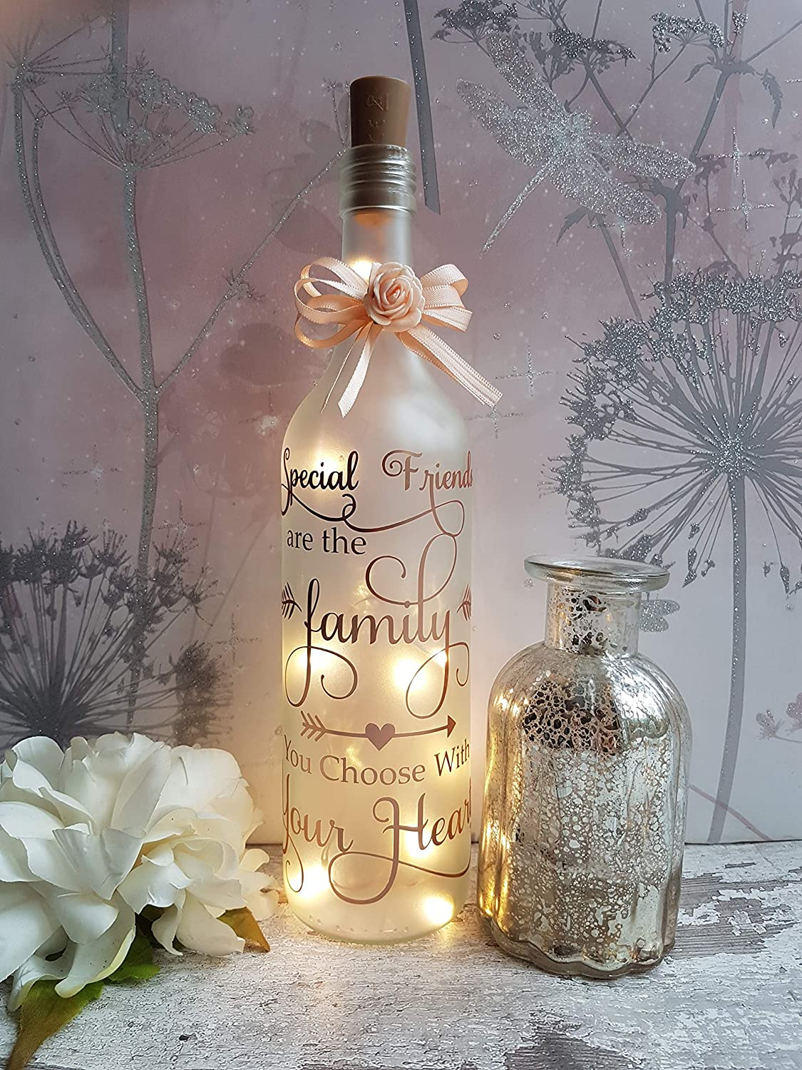 gift  party centrepiece 50th birthday light-up wine bottle