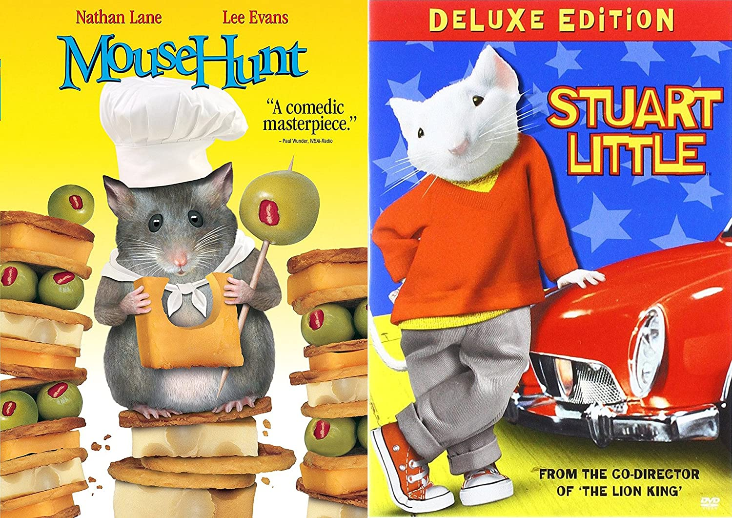 Amazon Com Animated Mice Tales 2 Dvd Collection Stuart Little Mouse Hunt Movie Double Feature Family Bundle Nathan Lane Movies Tv