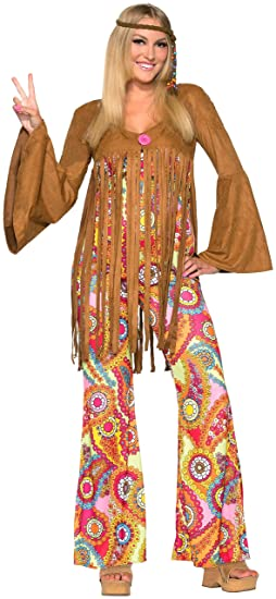60s Costumes: Hippie, Go Go Dancer, Flower Child, Mod Style Groovy Sweetie Hippie Costume $47.38 AT vintagedancer.com