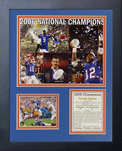 11 x 14-Inch Legends Never Die 2008 Florida Gators National Champions Framed Photo Collage