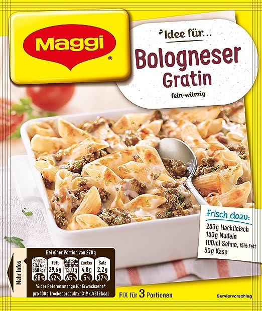 Maggi Idea For Bolognese Gratin Idee Fur Bologneser Gratin Poids Total 38 Grams Amazon Fr Epicerie