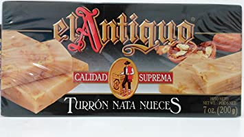 El Antiguo Calidad Suprema Turron Nata Nueces - Walnut Cream Nougat