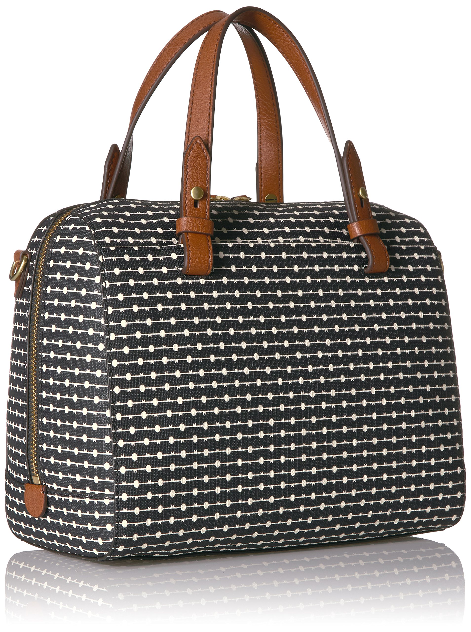 Fossil Rachel Satchel Handbag, Black Dot by Fossil (Image #2)