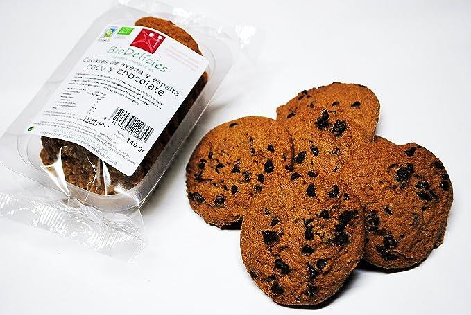 Cookies ecológicos, avena y espelta integral, de COCO y chocolate (pack de 10