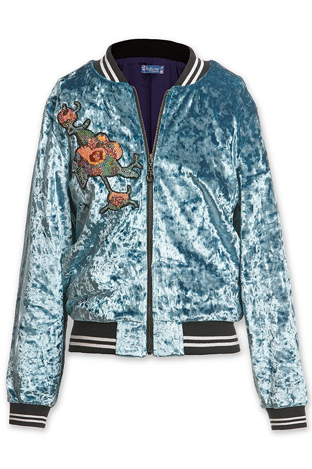 Truly Me, Big Girls Outerwear Jackets, Cardigans, Sweaters (Many Options), 7-16 (Small-8, Teal) R23235-S