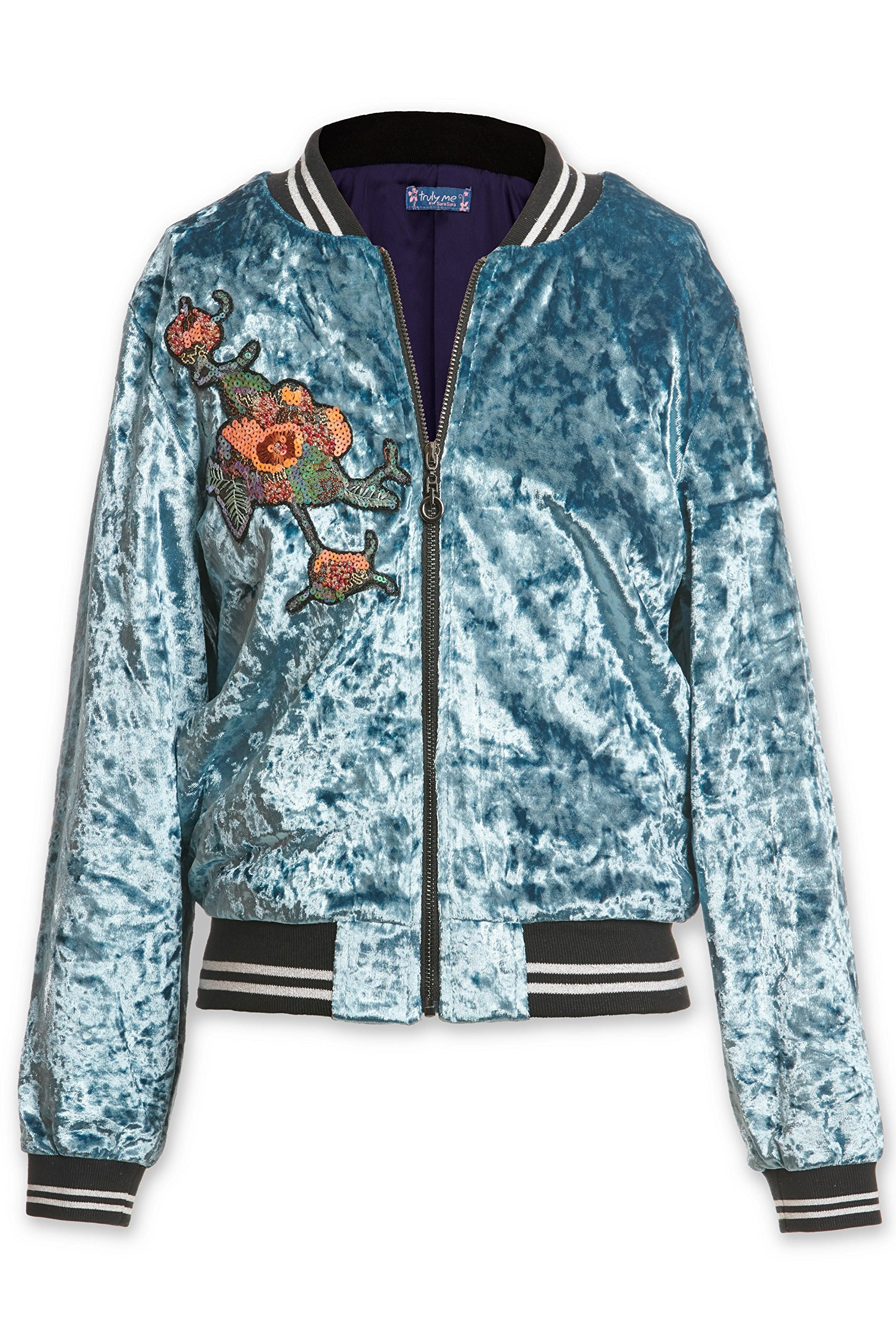 Truly Me, Big Girls Outerwear Jackets, Cardigans, Sweaters (Many Options), 7-16 (Small-8, Teal) by Truly Me