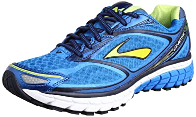 89ddab0c5a50a Brooks Men s Ghost 7 Running Shoes 1101681D427 Electric Blue Lemonade Lime  Punch Peacoat Navy