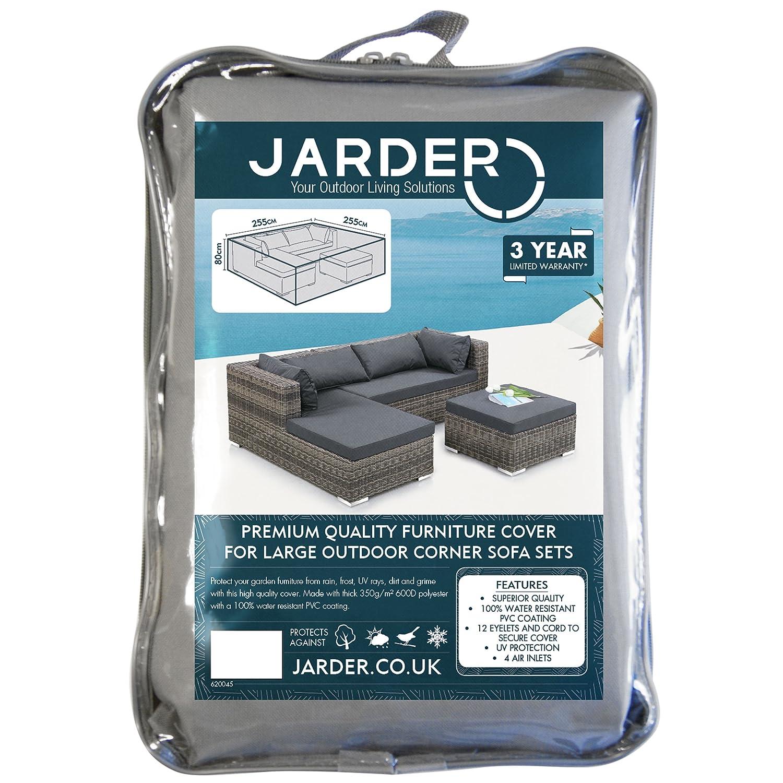 Jarder Garden Corner Sofa Set Cover 100% Water Resistant
