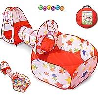 Tienda Campaña Infantil : Piscina de Bolas + Casita Infantil + Tunel Infantil: Plegable Parque