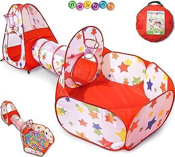 Tienda Campaña Infantil Bolas : Casita Infantil Tela + Tunel Infantil + Piscina de Bolas Infantil