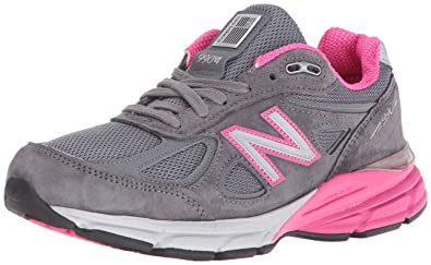 ab5c7b14a29 New Balance Women s w990v4 Running Shoes Grey Pink 5 ...