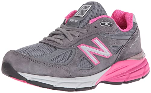 New Balance Women s w990v4 Running Shoes, Grey Pink, 9 D US