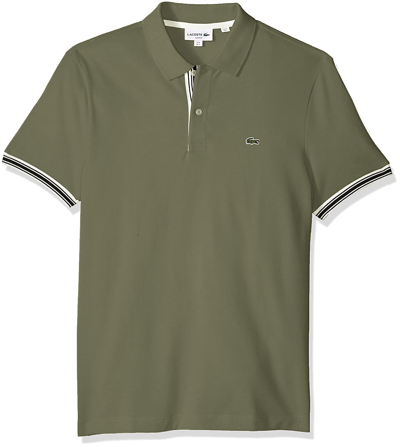 PH3187 Lacoste Mens Short Sleeve Semi Fancy Petit Pique Slim Polo