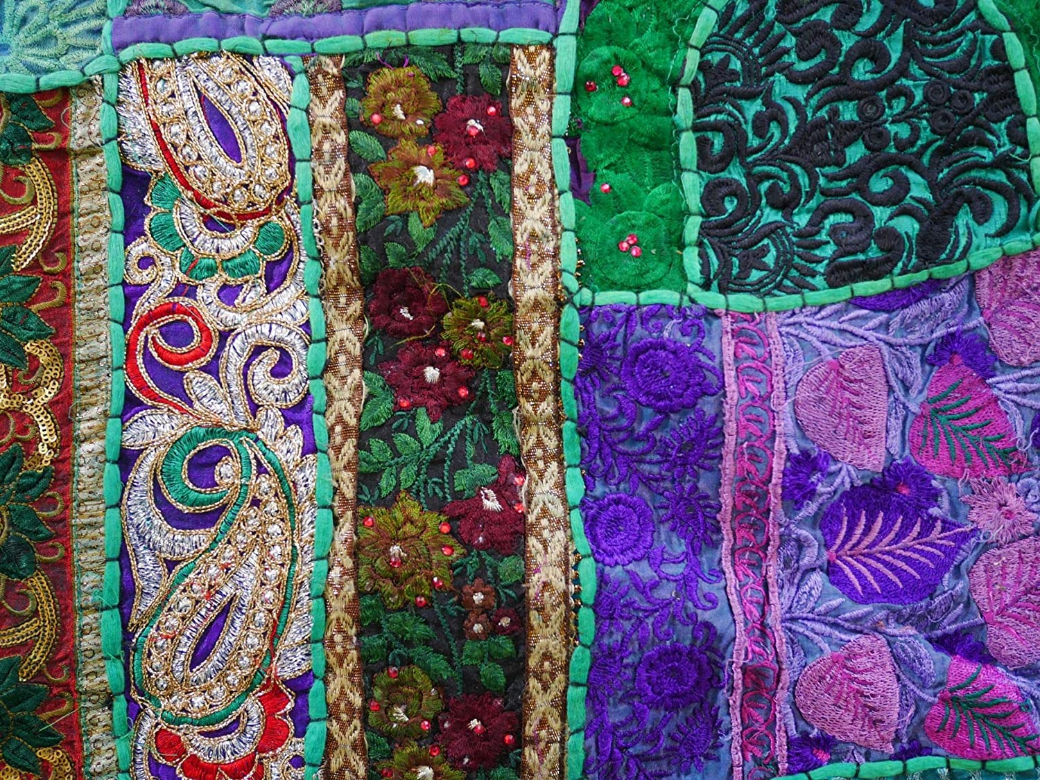boho hippie wall hanging Shanti Gypsy India home decor Bohemian wall tapestry 42x60 colorful Indian wall decorBoho Forest