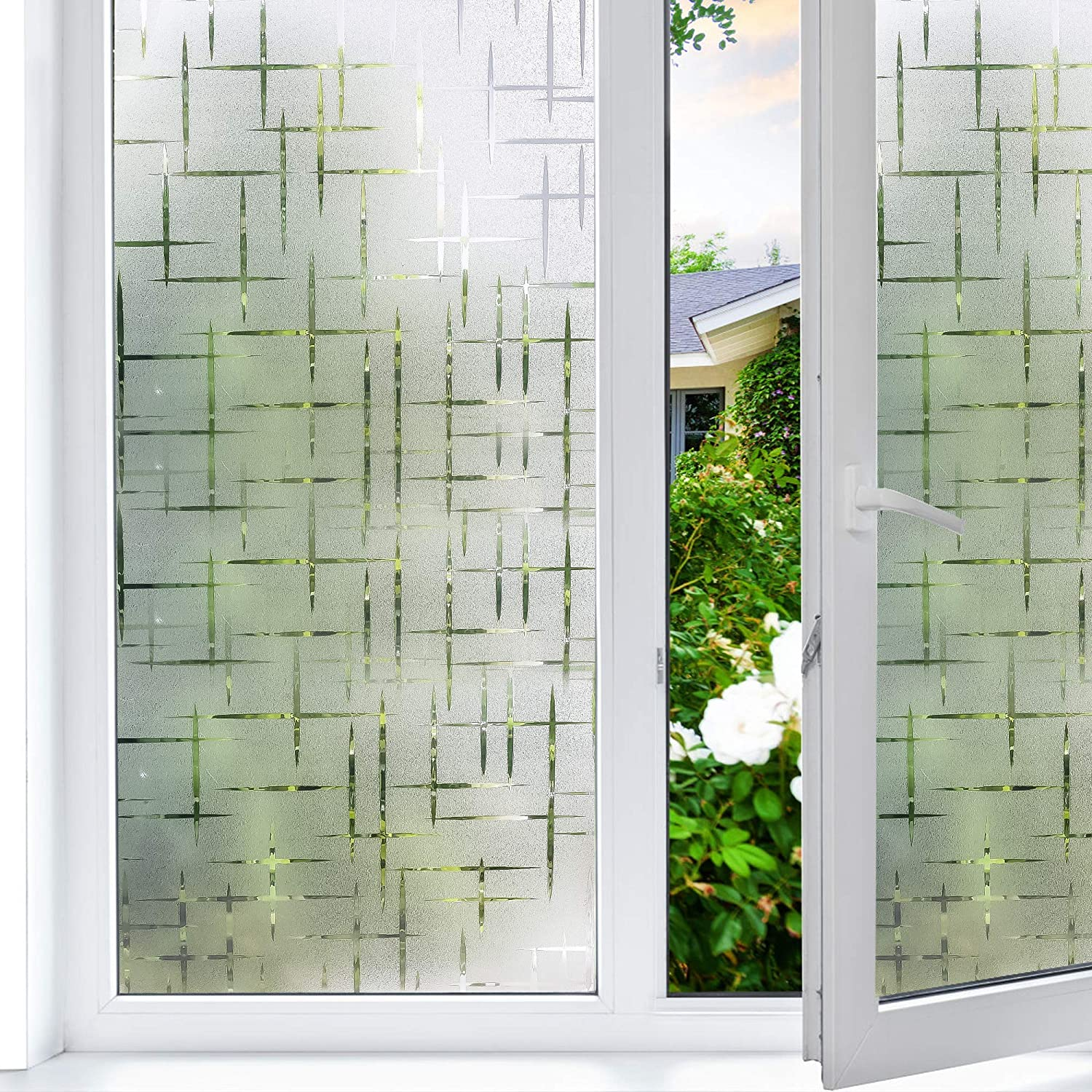 CHOIS EF1075 Custom Window Film DIY Strong Waves Surge Billow Custom Sizes Privacy Home Static Films Awesome Art Photo Decals Stickers