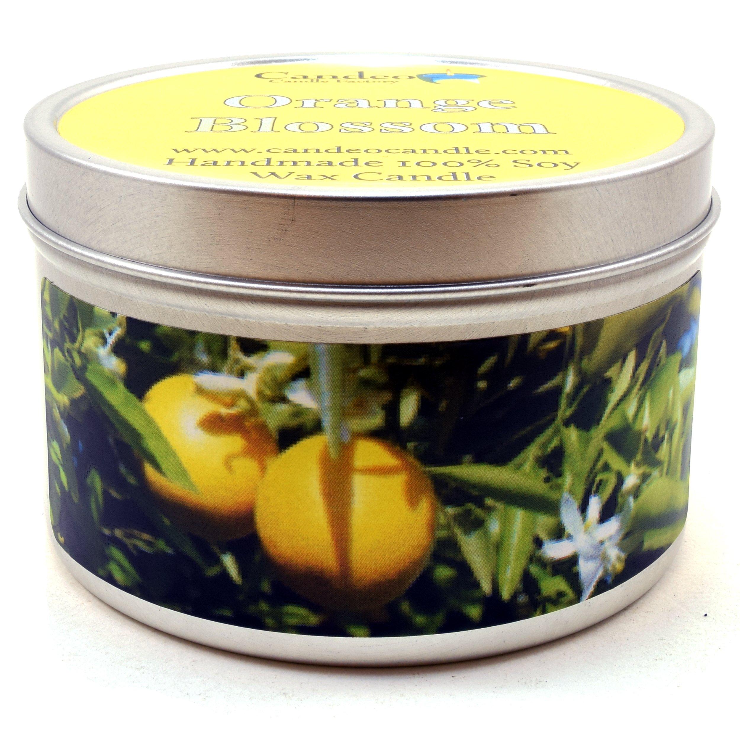 Orange Blossom, Super Scented Soy Candle Tin (6oz)