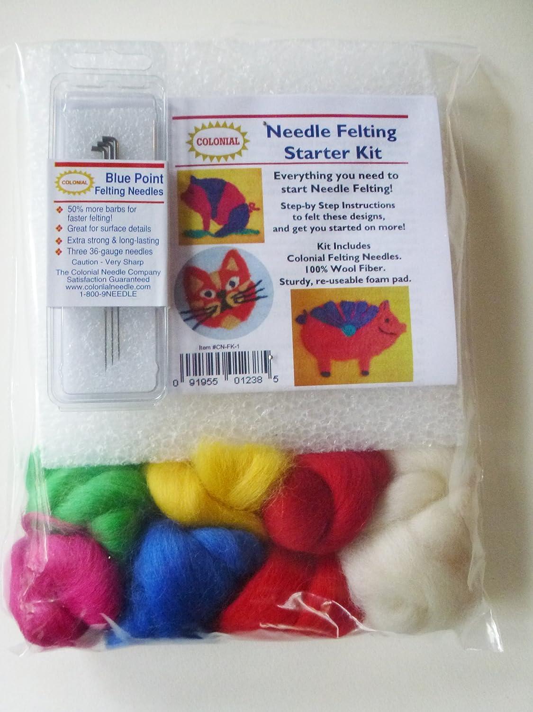 Needle Felting Starter Kit Colonial