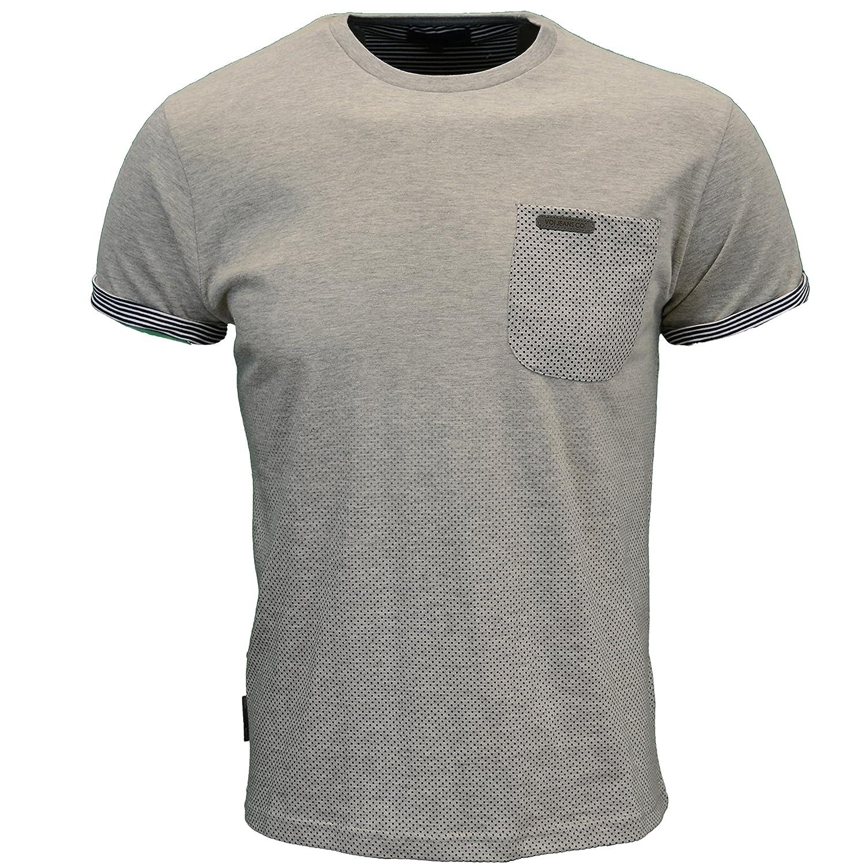 Voi Men's Designer S/Sleeve Chest Pocket T-Shirt, Available in 2 Colours