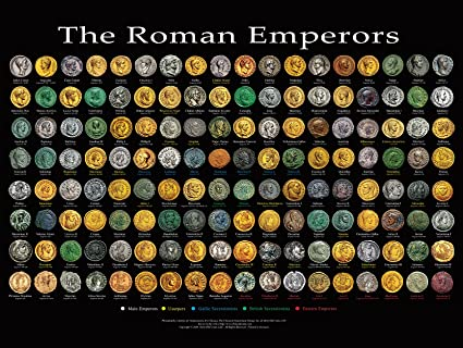 Roman Emperors Poster 24x18