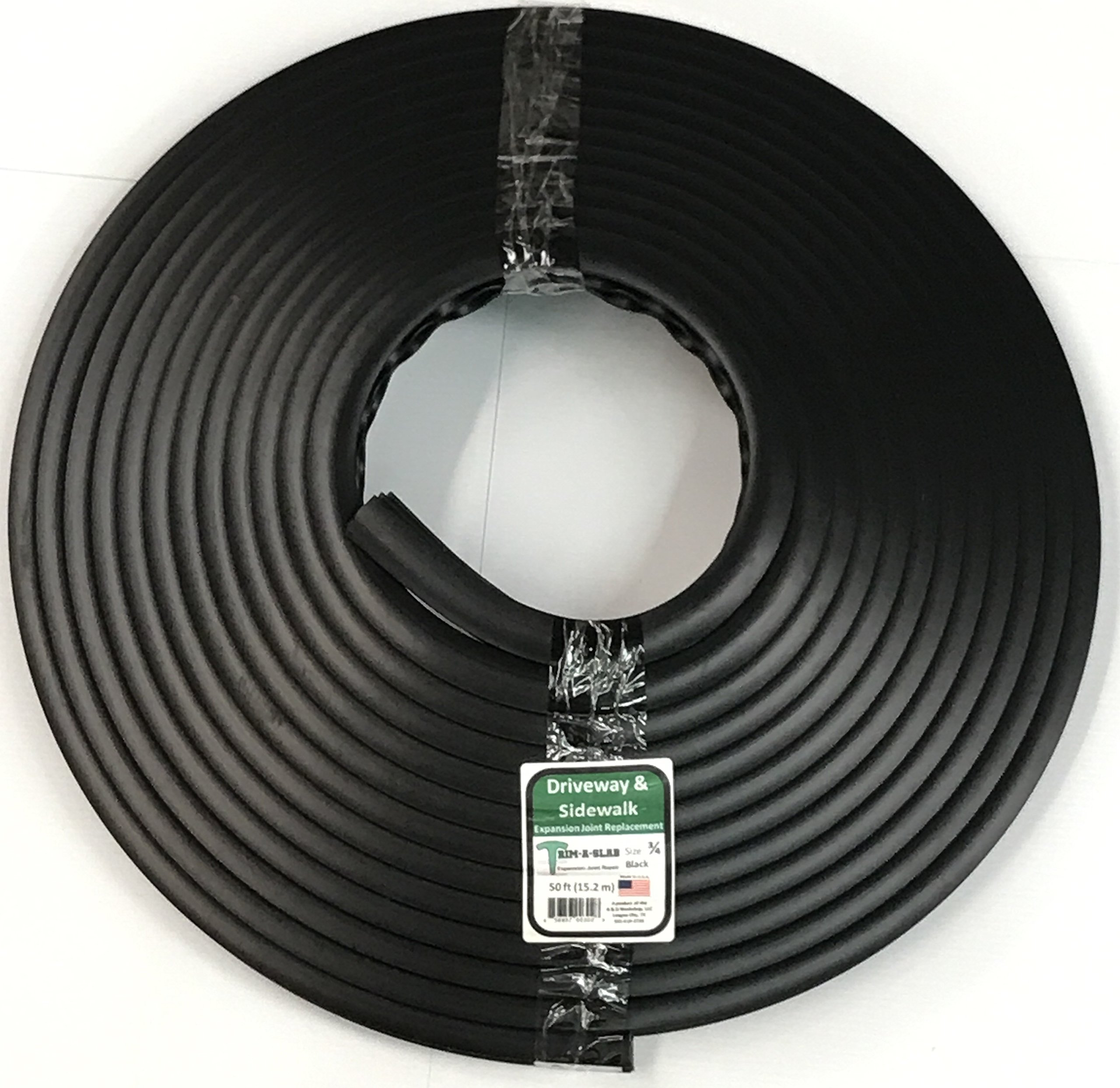 Trim-A-Slab (Black) Expansion Joint Repair/Replace Material - 3/4'' x 50 Linear feet (15.2m)