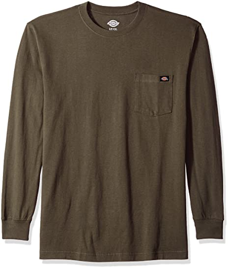 ee4c2f3fd1d8 Dickies Mens Long Sleeve Heavyweight Crew Neck Big-Tall T-Shirt: Amazon.ca:  Clothing & Accessories