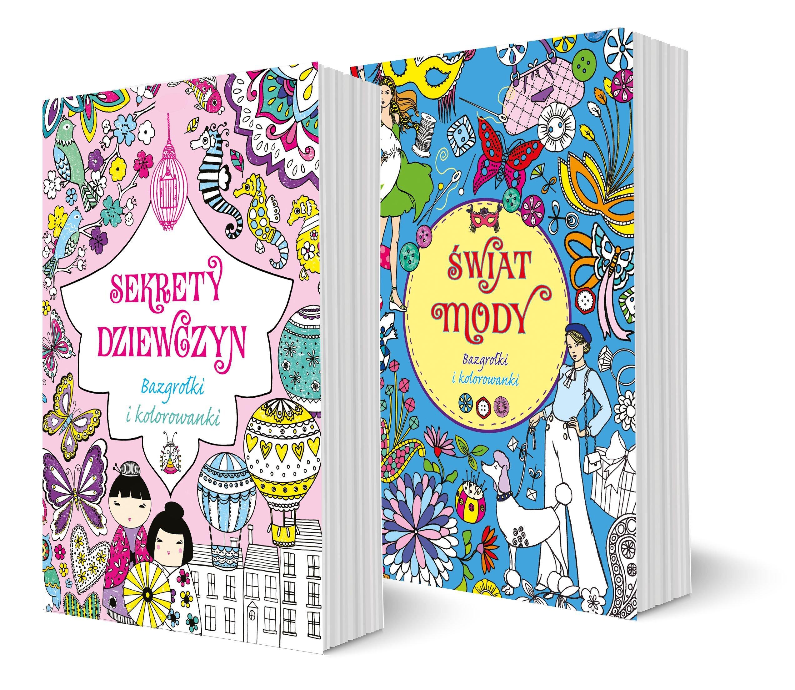 Pakiet Bazgrolki I Kolorowanki Swiat Mody Sekrety Dziewczyn