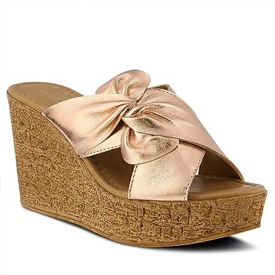 b564bffde8f5 Azura Women s Style Veria Black Euro Size 36 Leather Slide Sandal