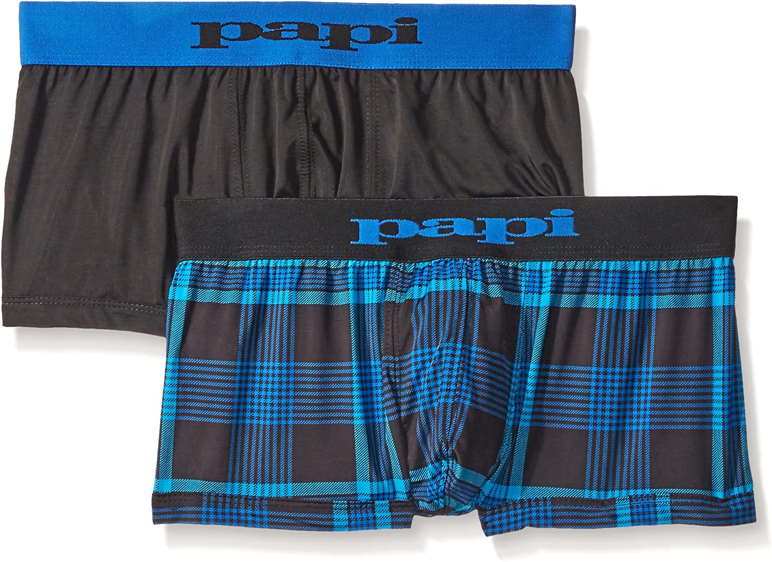 papi Men's Brazilian Cool Trunk Boxer Briefs Pack of 2 Comfort Fitting Underwear