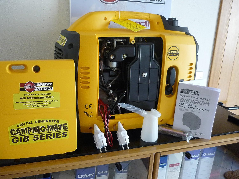 Grupo electrógeno generador de corriente portátil silenziato 3,5KVA inverter mod. GIB3000N: Amazon.es: Bricolaje y herramientas