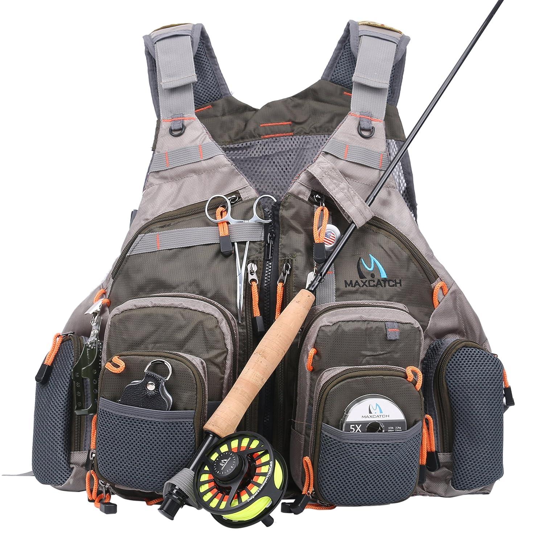 Maxcatch Fly Fishing Vest Mesh Vest Free Size | eBay