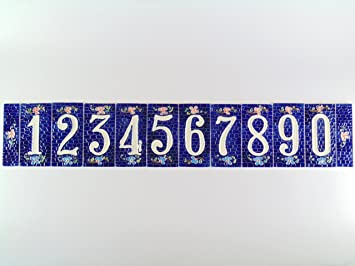 Hausnummern Keramik Fliese Keramik Fliese Hausnummer Keramik NB - Keramische fliesen preise