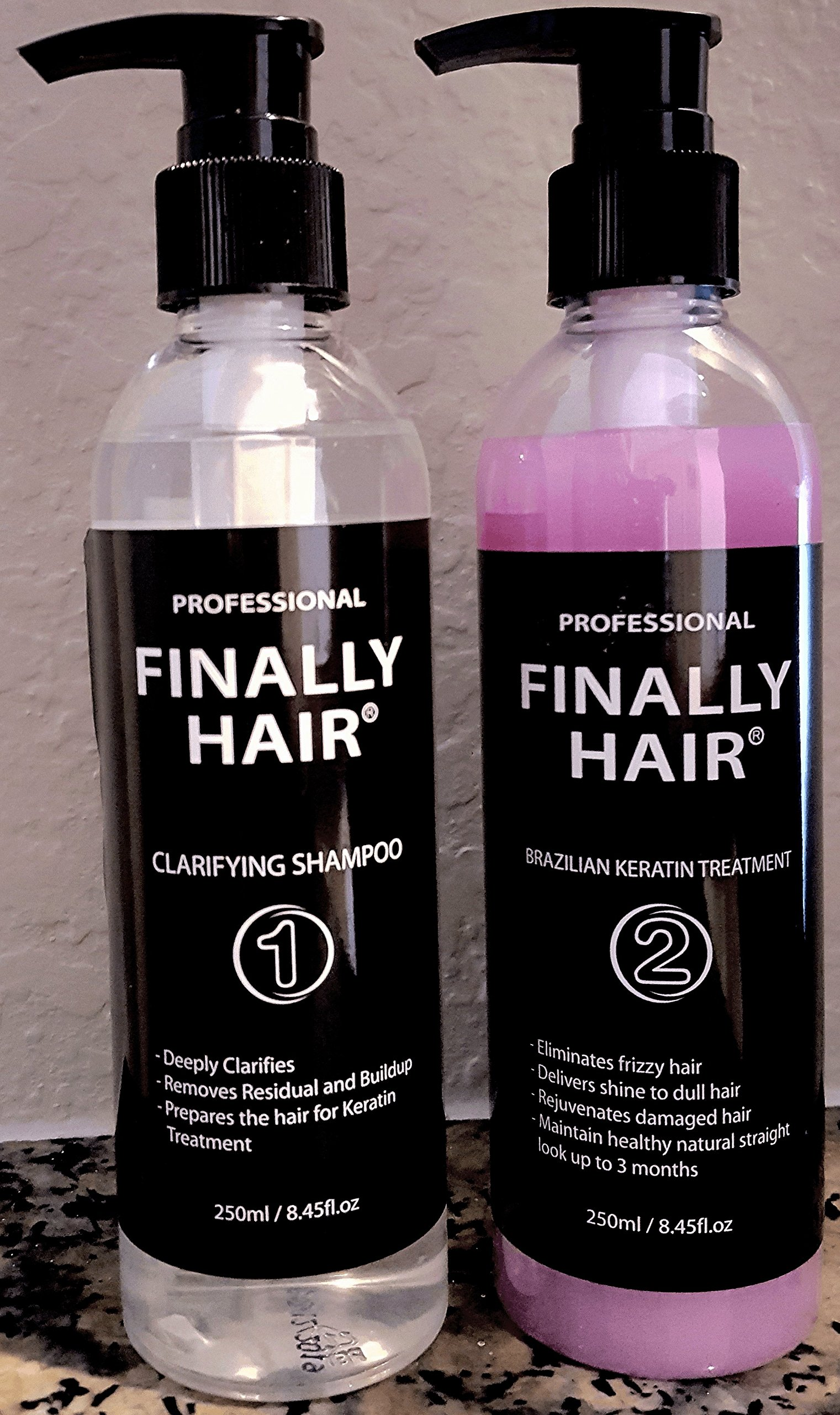 Finally Hair Deluxe Brazilian Keratin Straightening Smoothing Treatment For Professional Use - 500ml (Grape Milder Smell)
