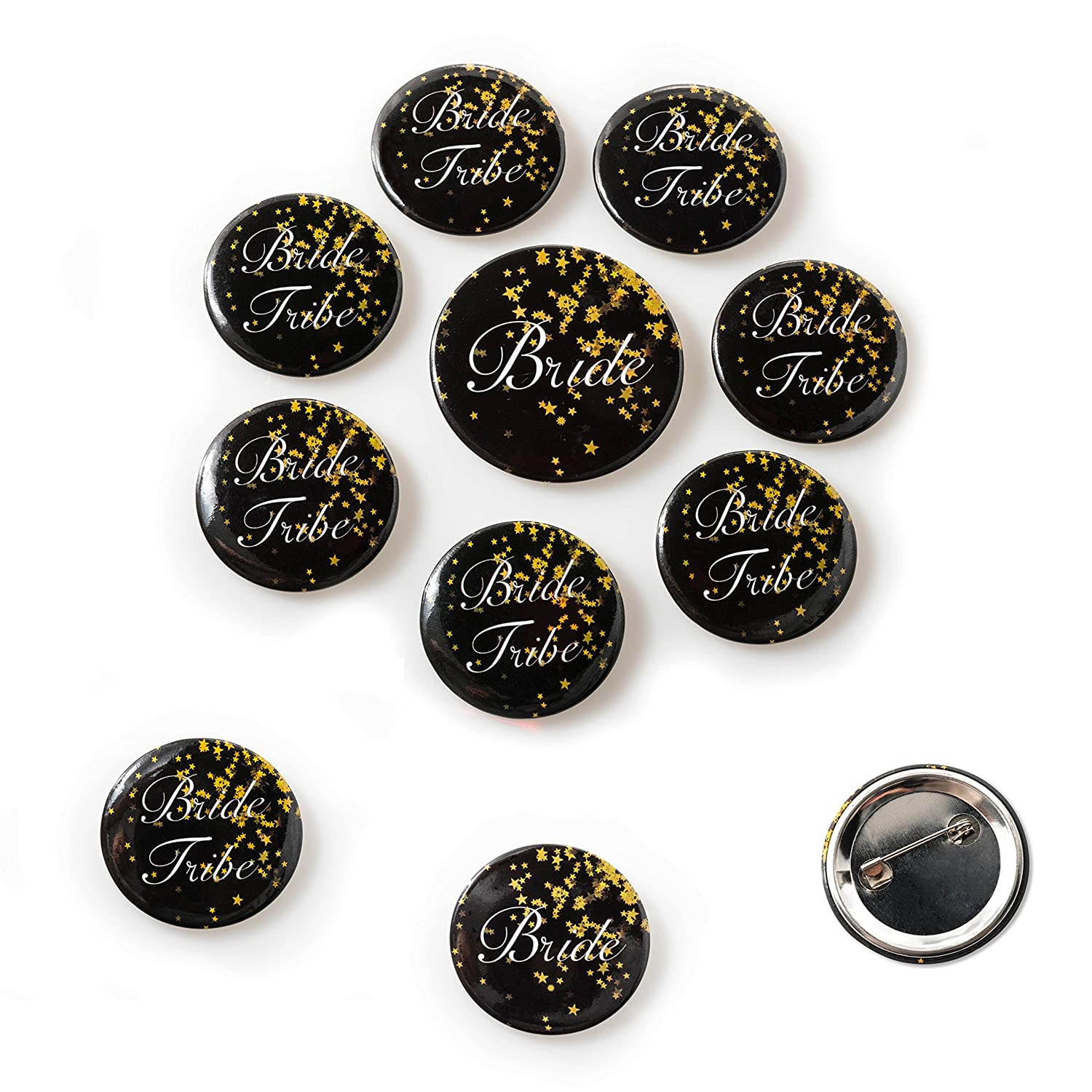 and 8 Bachelorette Buttons Bachelorette Party Bride to Be Kit 1 LED Bride Cup 12 Bride and Bride Tribe Tattoos