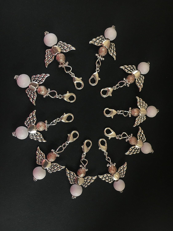 10 stylische Perlenengel mit Karabinerhaken, handmade, Schutzengel, Anhänger, Weihnachten, Weihnachtsgeschenk, Geschenkeanhänger Anhänger Geschenkeanhänger