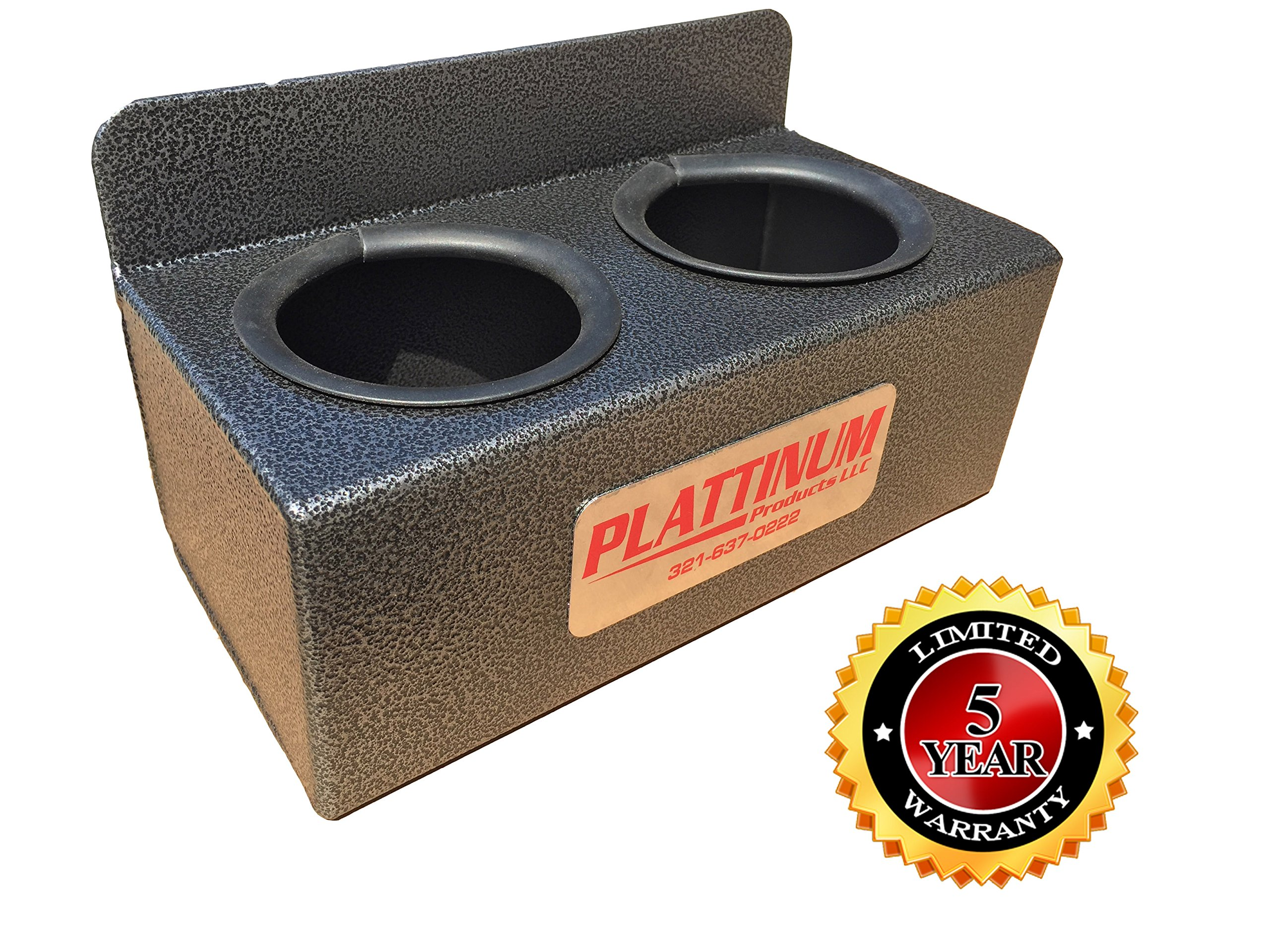 Aluminum 2 Slot Drink Holder MADE IN THE USA! by Plattinum Products