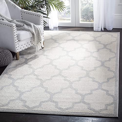 Safavieh Amherst Collection AMT420E Moroccan Geometric Area Rug, 10 x 14 , Beige Light Grey