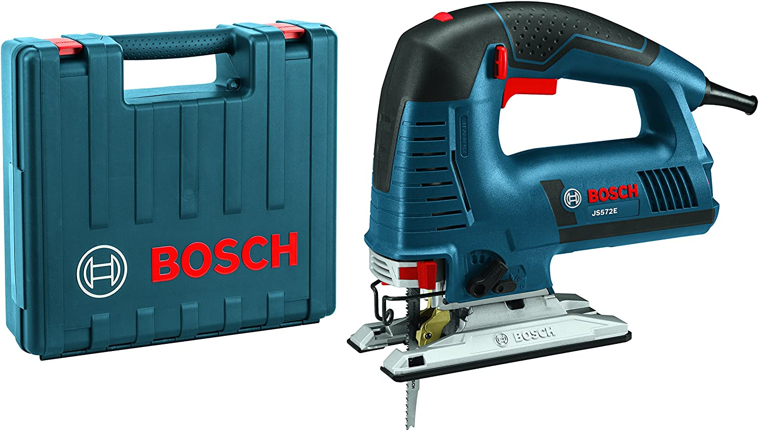 BOSCH Power Tools Jigsaw Kit - JS572EK - 7.2 Amp Corded Variable Speed Top-Handle Jig Saw Kit with Assorted Blades and Carrying Case