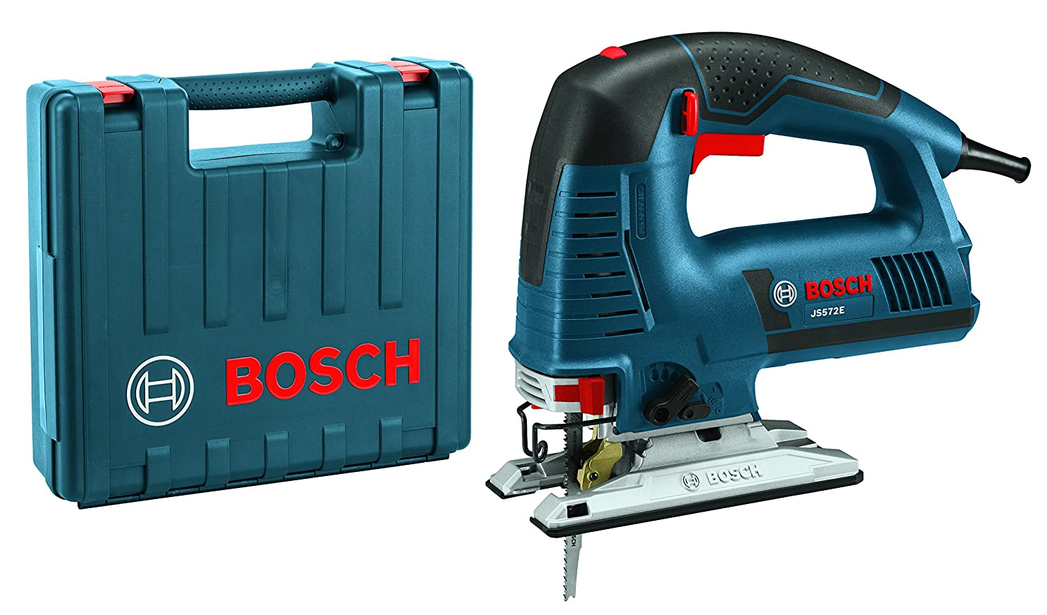 Bosch Power Tools Jigsaw Kit – JS572EK – 7.2 Amp Corded Variable Speed Top-Handle Jig Saw Kit with Assorted Blades and Carrying Case