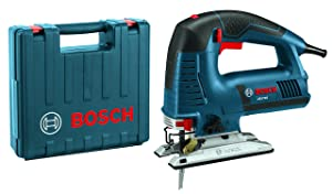 Bosch Power Tools Jigsaw Kit - JS572EK - 7.2 Amp Top-Handle Jig Saw Kit For Woodworkers, Kitchen, Bathroom Installers, Contractors - Corded Tool, Saws For Curve, Scallop Cutting, and Precision Cuts