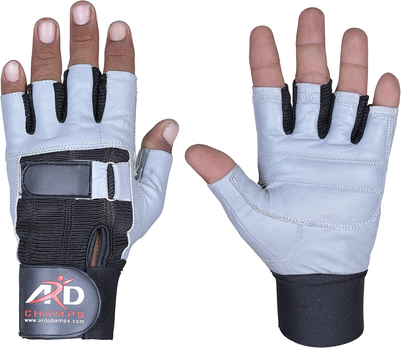 Medium Weight Lifting Gloves Black And Blue Fingerless Neoprene Rubber Small