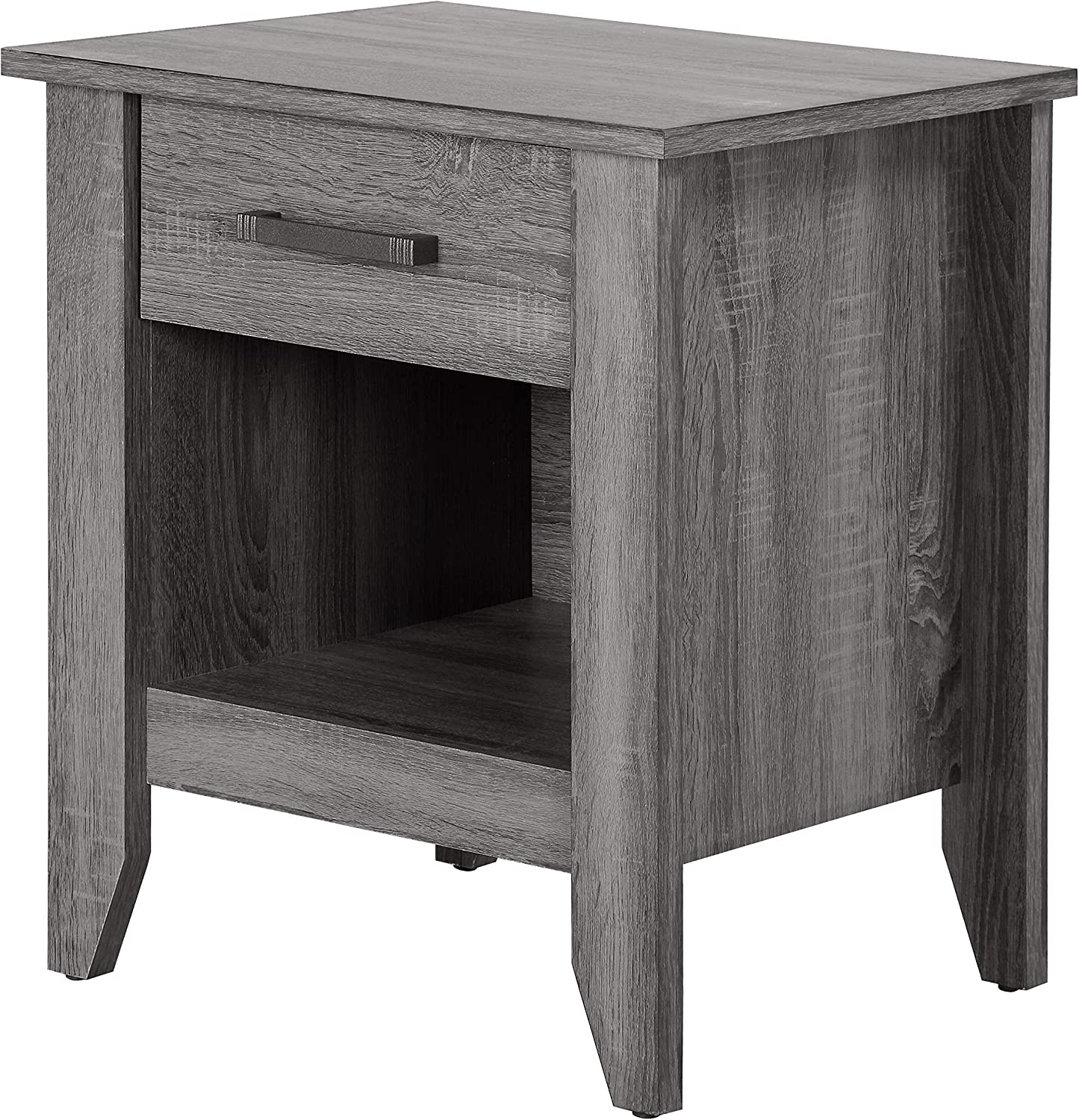 Glory Furniture Lennox , Black Nightstand, SIDE TABLE 24 H x 18 W x 21 D