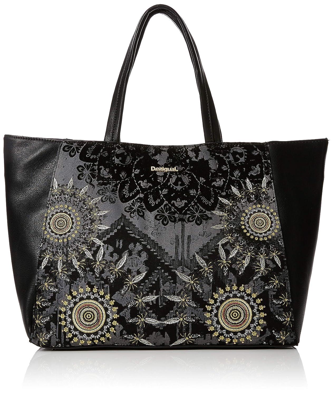 Desigual - Bols_red Queen Cuenca, Shoppers y bolsos de hombro Mujer, Amarillo (Oro), 16.5x30x37.5 cm (B x H T): Amazon.es: Zapatos y complementos