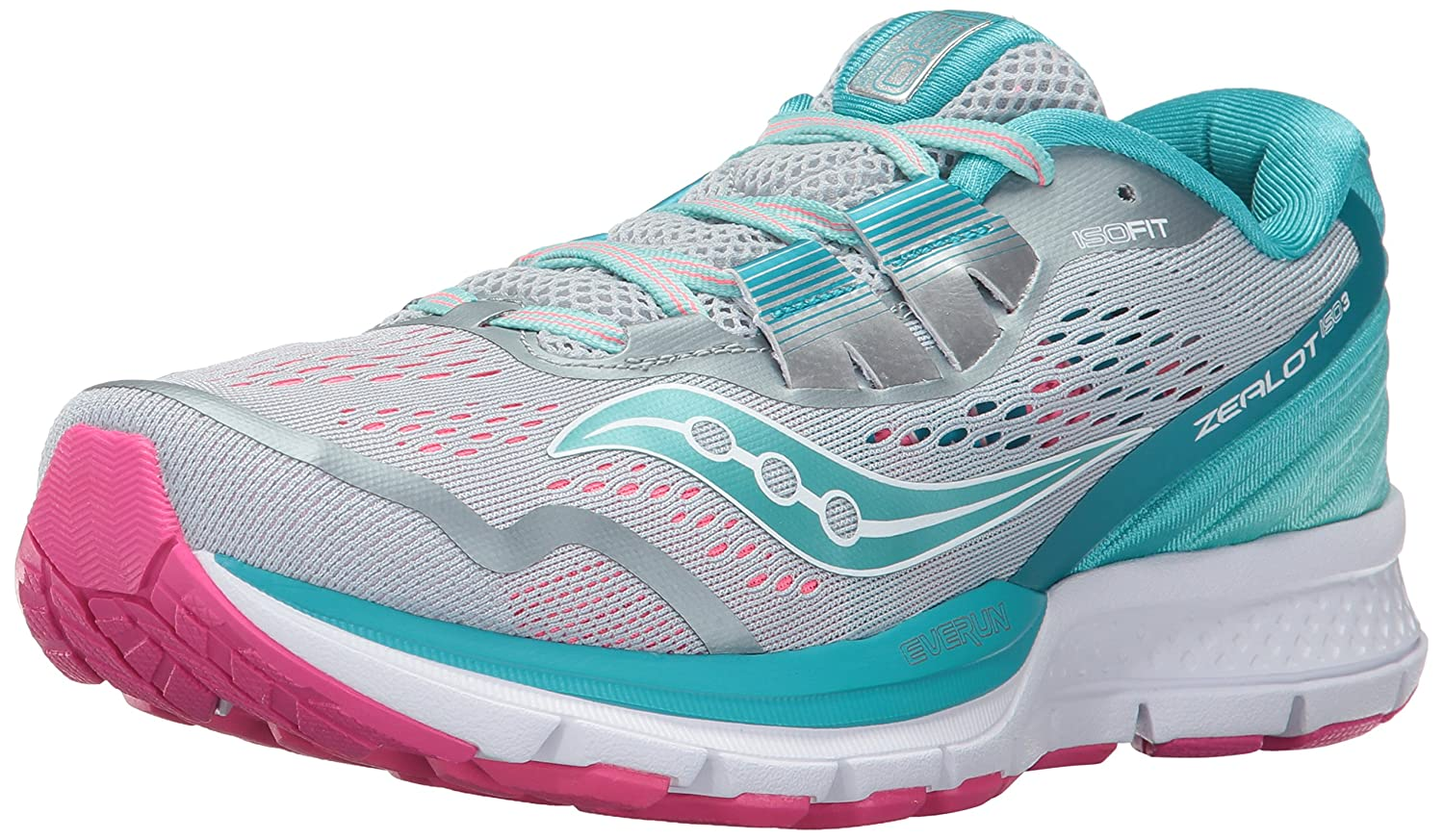 Saucony Women's Zealot Iso 3 Running Shoe B01N6JK2H5 9.5 B(M) US|Grey Blue