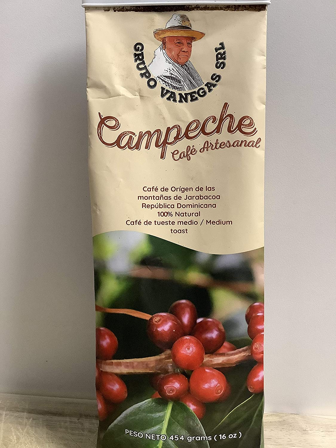 CAMPECHE Cafe Artesanal 100% Natural from Jarabacoa DOMINICAN REPUBLIC Ground Coffee